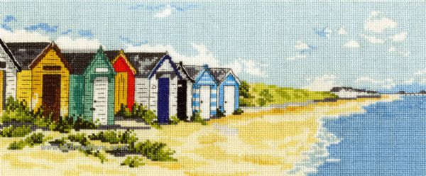 Southwold Beach Huts And Pier Cross Stitch Kit